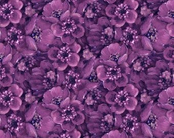 End Of Summer Purple Floral from Wilmington by the yard