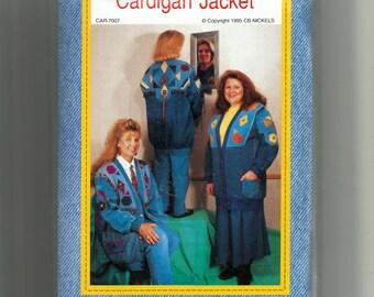 Junk-Jeans Cardigan Jacket Pattern 003