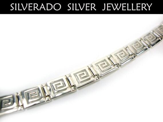 Sterling Silber 925 antike griechische Armband Unendlichkeit