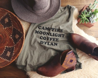 Campfire Moonlight Coffee Dylan Racerback Tank - Womens