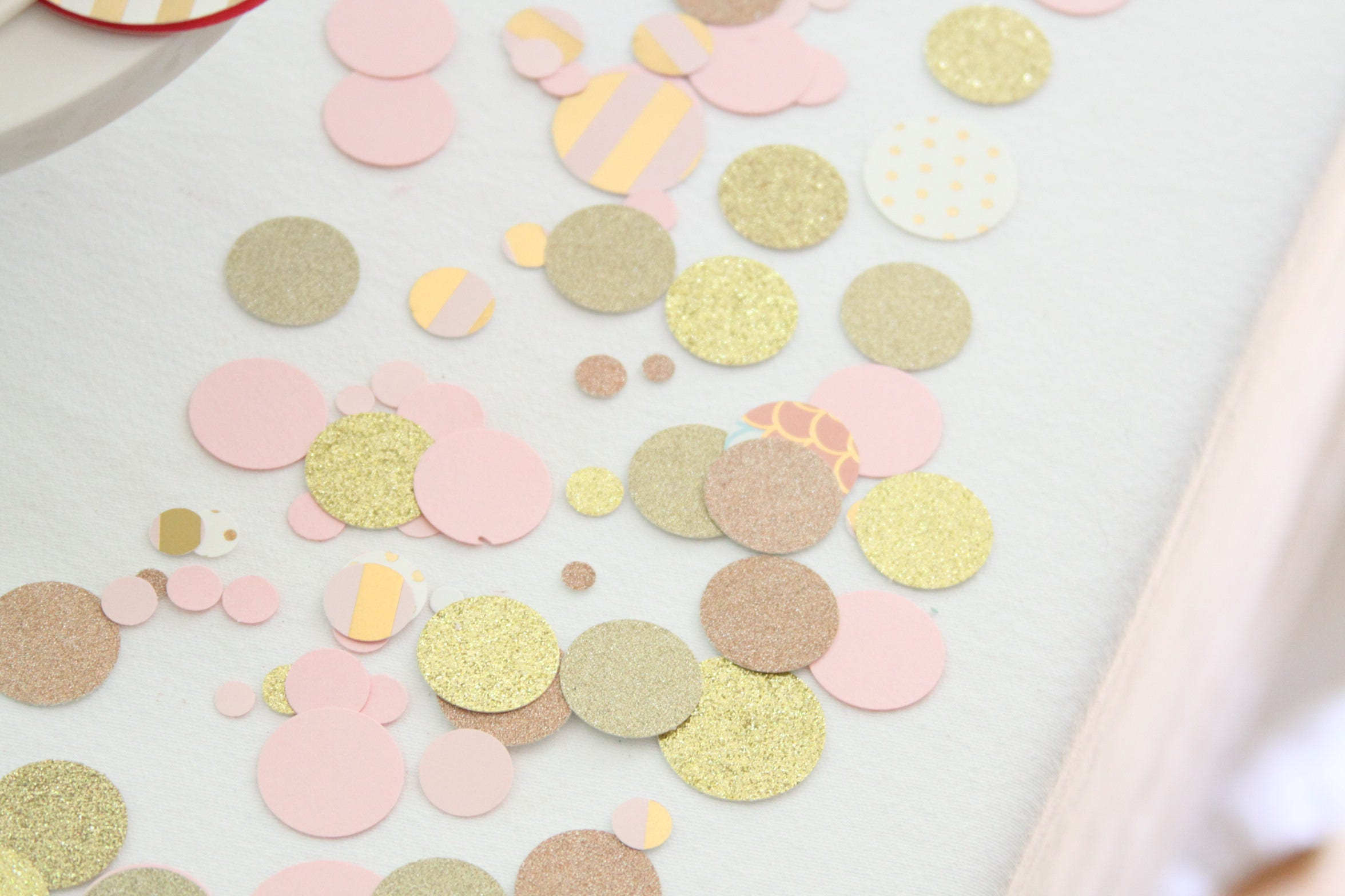 Rose Gold Confetti, Pink and Gold Baby Shower Decorations, Pink and ...