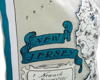 New Jersey State Pillow Cover with Insert