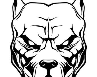 pitbull clip art etsy rh etsy com