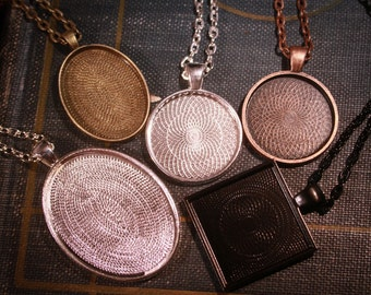 Special listing 12 DEEP pendants and necklaces and silver rec. ring