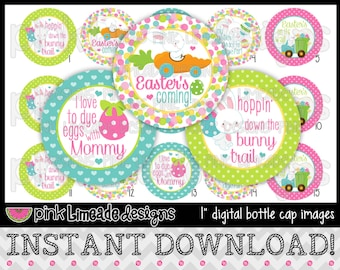 """Easter's Coming - INSTANT DOWNLOAD 1"""" Bottle Cap Images 4x6 - 641"""