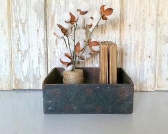 Vintage Wooden Box, Small Wood Drawer, Rustic Box, Antique Wood Box, Primitive Wood Box, Dovetailed Box, Farmhouse Wooden Box, Cigar Box
