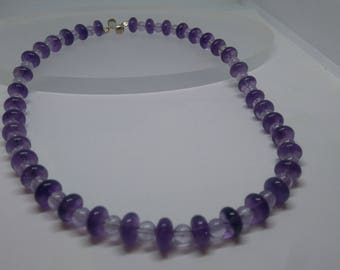 Lavender amethyst necklace with silver clasp