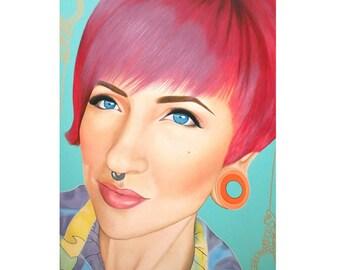 True Beauty - Jerica Wentzell  -  By Toronto Portrait Artist Malinda Prud'homme