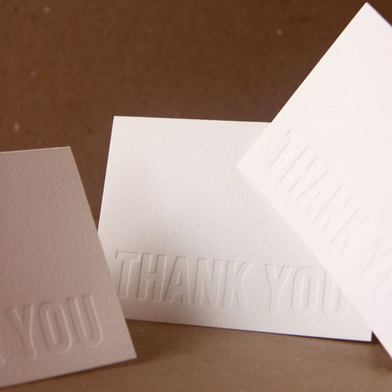 Reserved Listing : Custom Impression (no ink) Letterpress Notes, box set of 50 small folded cards w envelope color choice