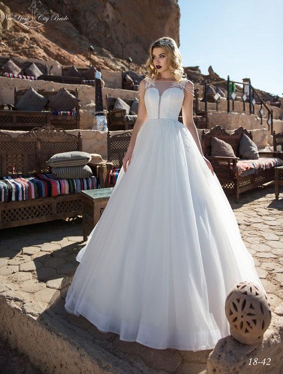 train wedding Bride dress gown Wedding Back Ball NYC Open dress Wedding Wedding with Inara from dress dress Iwq8PT