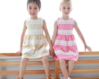 Girl Dress -Elegant embroidered dress  (infant/toddler/girl)