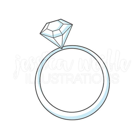 Wedding Ring Cute Digital Clipart Wedding Ring Clip art Bridal