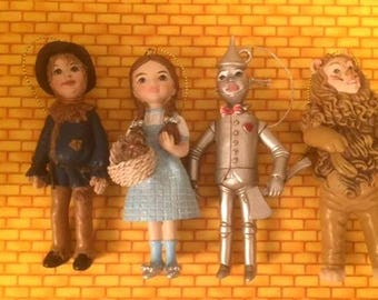 New Wizard Of Oz set of 4 Ornaments