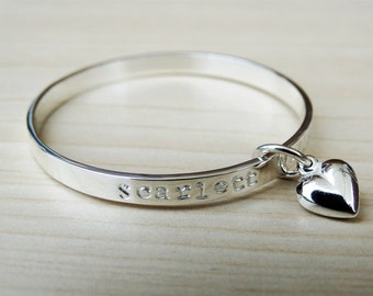 Sterling Silver Baby Bracelet With Heart
