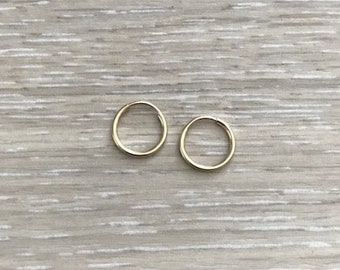 14k Gold Filled Hoops, 9 mm Hoops, Cartilage Earring, Nose Ring, Thin Hoops