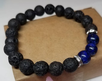 Blue Agate diffuser bracelet