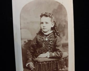 Antique Victorian Child Girl Photo Sacramento, CA
