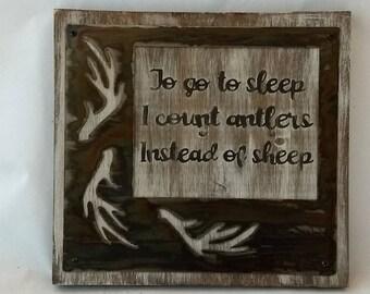 Baby gift, To go to Sleep I Count Antlers