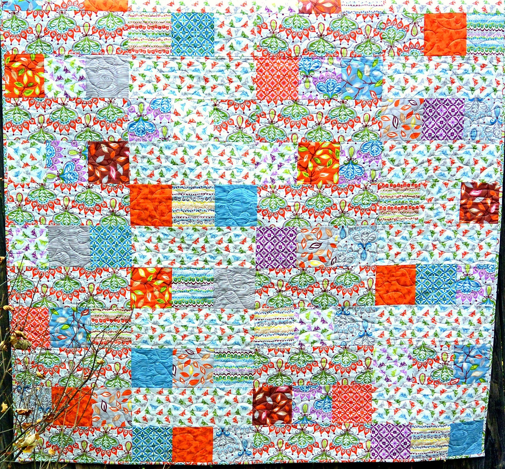 Handmade Quilts For Sale Butterfly Lap Quilt Quilted Throw Home