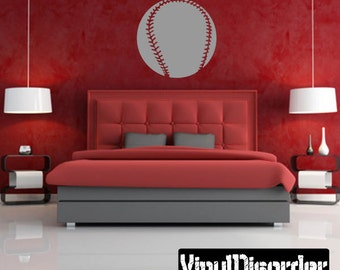 Baseball Ball Vinyl Wall Decal or Car Sticker - baseballst018ET