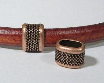 Regaliz Large Dots Spacers - Antique Copper - SP24 - Choose Your Quantity