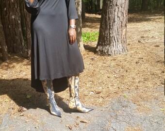 Hi low turtleneck dress