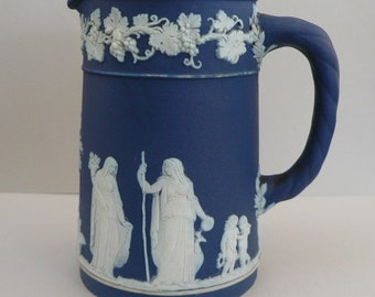 Wedgwood Cobalt Blue Jasperware Dip Cream Jug
