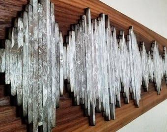 Johnny Cash Soundwave Art - Custom Soundwave Wall Art - Live Edge Walnut Wall Art - Unique Gift Idea - Anniversary Gift  - Hospitality Art