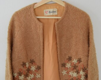 1950's 1960's Vintage Jacket with Floral Details
