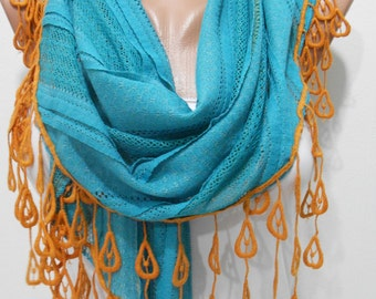 Mothers Day Gift For Her Cowl Scarf Triangle Scarf  Scarf   Winter Scarf   Fashion Accessories Gift For Mom Holiday clothing gift