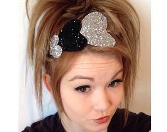The Triple Glitter Heart headband