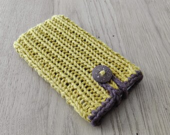 Handmade knitted phone case/cozy *Tricot* for Apple iPhone, Samsung, HTC, Nokia and all other sizes