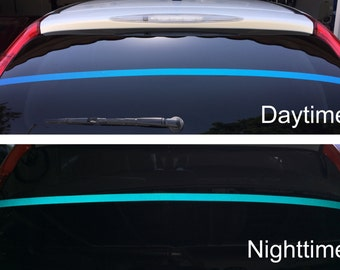 Reflective Blue Line Decal (2 pack)