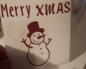 Decal Cup Merry x mas
