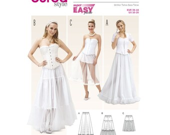 MIsses Petticoat Underskirt for Formal Dresses - Burda 6739 Sewing Pattern,   Costume Pattern- US Sizes: 10 -12 -14 -16 -18 -20