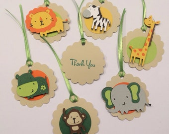12 Zoo or Jungle Themed Favor Tags
