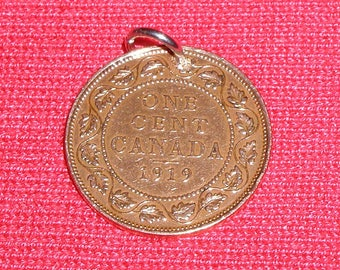 1919 necklace made with a true Canadian 1919 penny