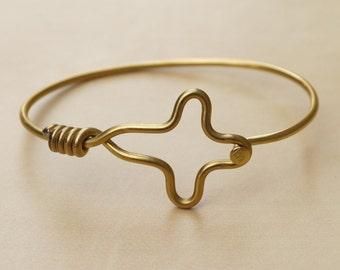 Gold Cross Bicycle Spoke Bracelet