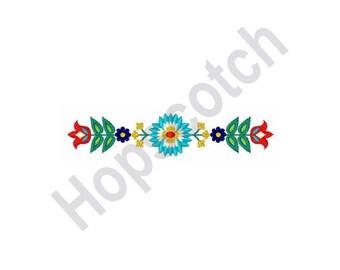 Flower Border - Machine Embroidery Design