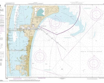 Approaches to Cape Canaveral - 2014 Map Old Nautical Chart - Florida Harbors East 11481