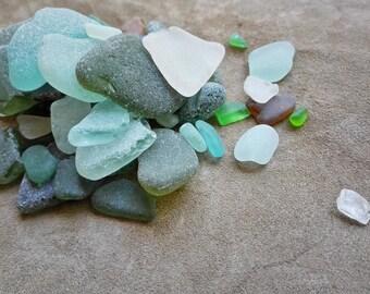Sea glass bulk Mixed lot beach glass Unsorted sea glass 50+pcs
