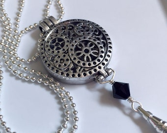 Lanyard Necklace, Steampunk, cogs