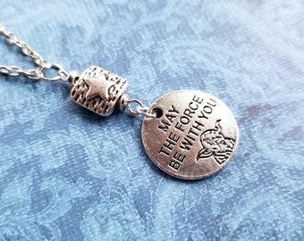 Star Wars Necklace / Yoda Necklace / Geek Jewelry / Force Necklace / Pop Culture Jewelry / Star Wars Jewelry / Star Wars Gift