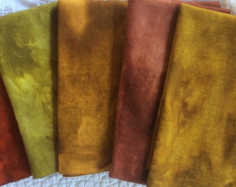 Hand Dyed Wool Autumn Colors Set 1