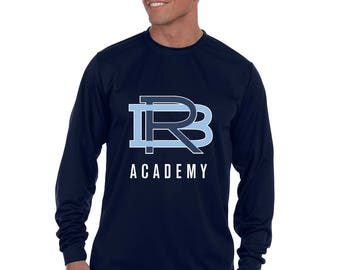 RBA Interlocking Logo Moisture Wicking Long Sleeve T-Shirt-Front and Back Print