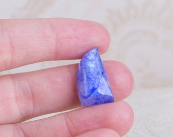 Natural blue rainbow moonstone cabochon, 11mm x 22mm, flashy moon stone cab