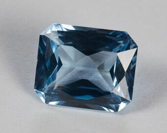 Synthetic Light Sky Blue Spinel, Scissor Cut, 4.67ct