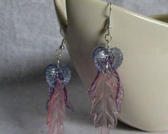 Feather Lite Leaf Earrings Pastel Colors