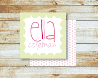 Personalized Calling Cards / Gift Tags / Kids / Ella