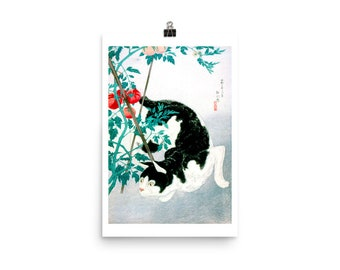 Cat with Tomato Plant 1931, Premium Luster Photo Paper Poster